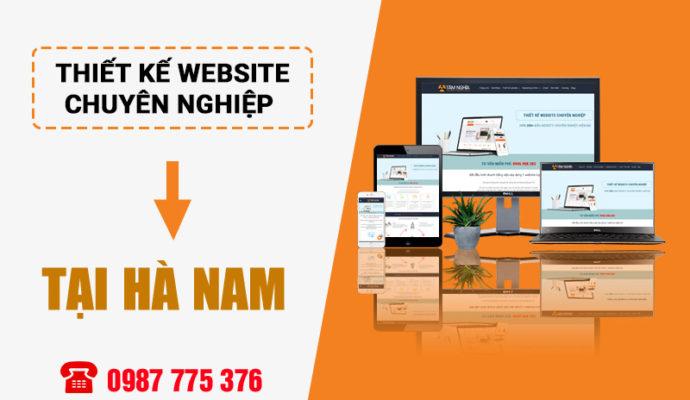 thiết kế website tại Phủ Lý Hà Nam